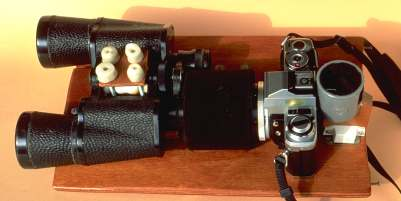The binoculars - camera assembly.